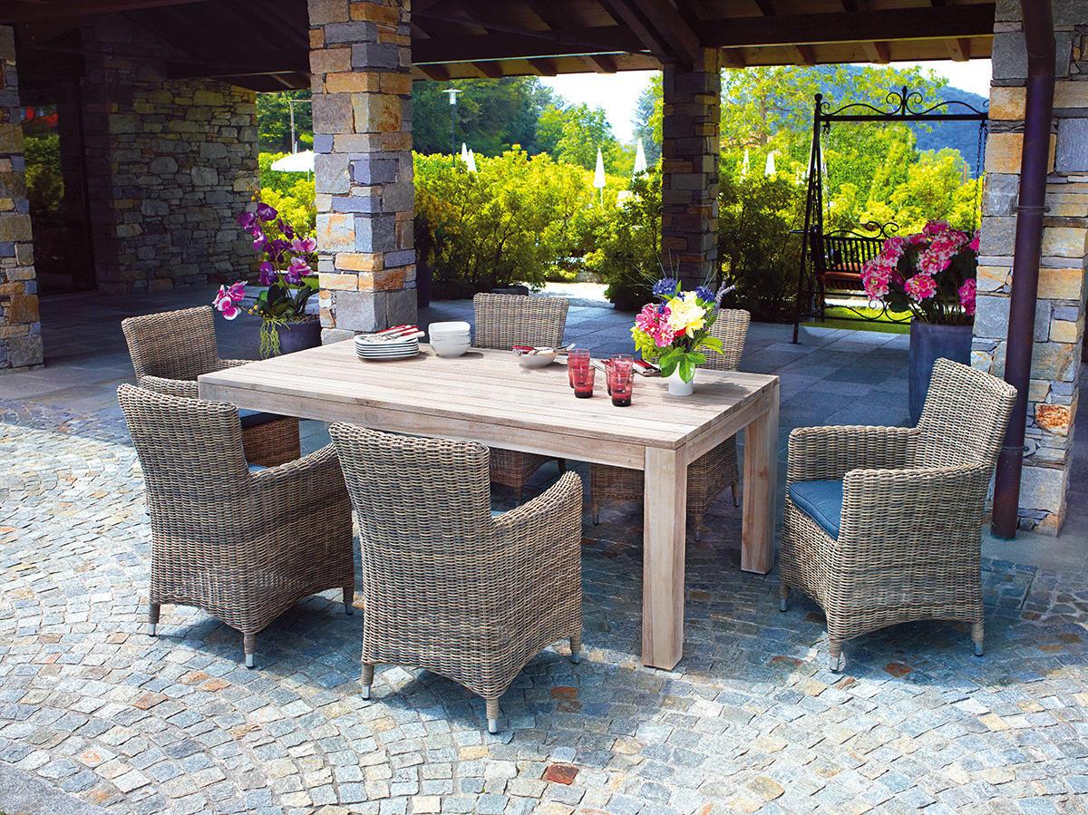Tavolo da giardino in legno moia wrt 03w bali tavolo da - Mobili da giardino in teak ...