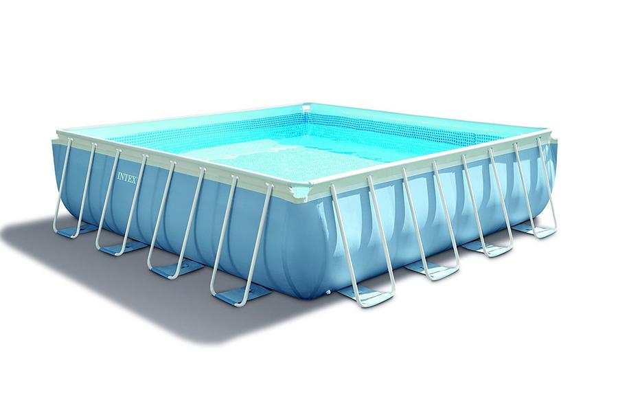 La piscina fuori terra quadrata intex 28766 della linea di intex prism frame facile da - Piscina fuori terra quadrata ...