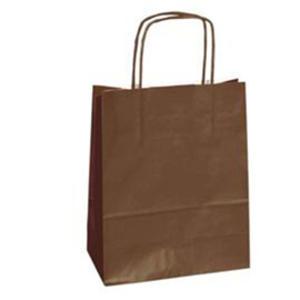 25 shoppers carta kraft 18x8x24cm twisted marrone