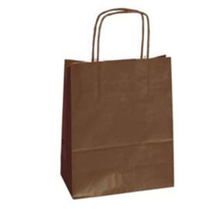 25 shoppers carta kraft 26x11x34.5cm twisted marrone