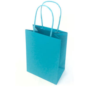 25 shoppers carta kraft 18x8x24cm twisted turchese
