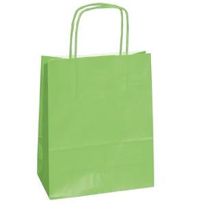 25 shoppers carta kraft 14x9x20cm twisted verde mela