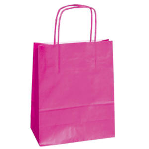 25 shoppers carta kraft 14x9x20cm twisted magenta