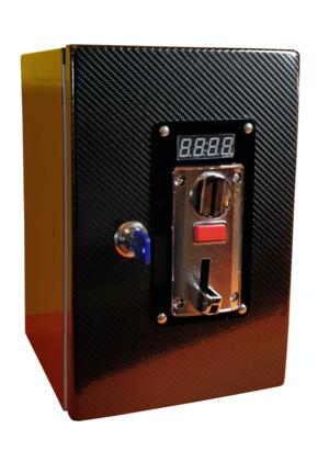 Gettoniera MULTI moneta  per Lavatrice o Asciugatrice con grafica fibra di carbonio