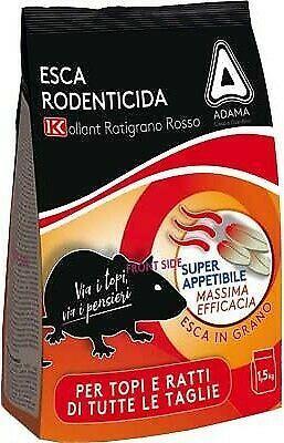Esca rodenticida in pasta fresca 500g Esca per Ratti Kollant Ratibrom 5.0 Paste