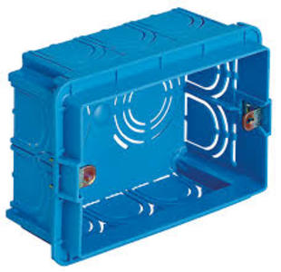 cassetta da incasso 3 posti portafrutti elettrici mm 95x70x48
