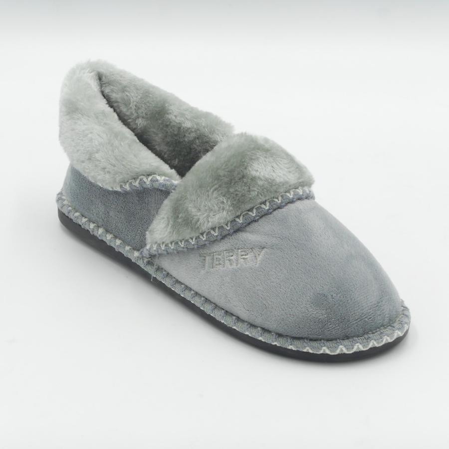 Terry Vigna grigio pantofole calde uomo