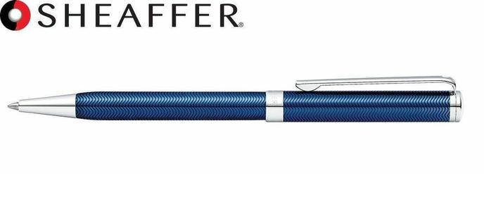 SHEAFFER INTENSITY - Penna a sfera lacca blu cesellata finiture cromate