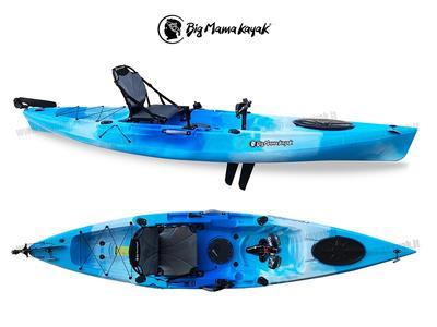 Kayak Idrofin 370 Big Mama Kayak Con Sistema Di Pedali A Pinne + Timone + 2 Gavoni + 5 Portacanne + Seggiolino + Pagaia  - col. AZZURRO