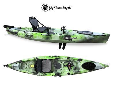 Kayak Idrofin 370 Big Mama Kayak Con Sistema Di Pedali A Pinne + Timone + 2 Gavoni + 5 Portacanne + Seggiolino + Pagaia - JUNGLE