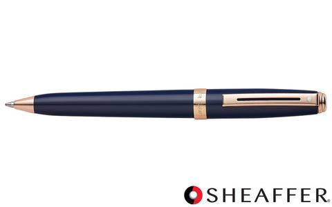 SHEAFFER PRELUDE - Penna a sfera lacca blu finiture oro rosa