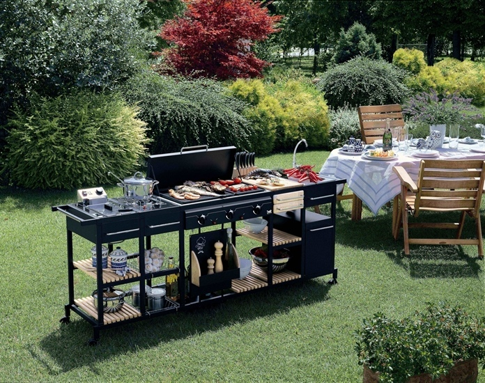 Barbecues professionale a gas BST Magnum bistecchiera centrale MULTIGAS ART 204