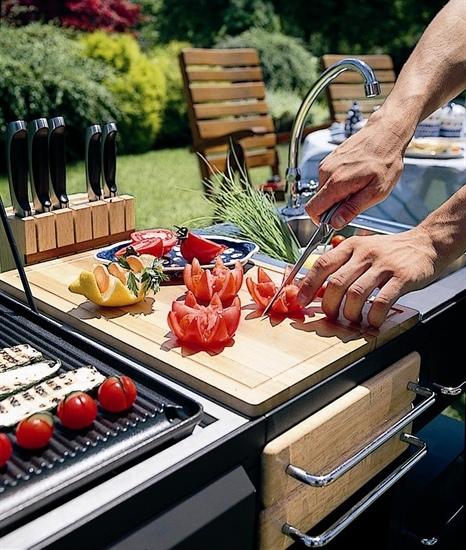 Barbecues professionale a gas BST Magnum tagliere con ceppo ART 208