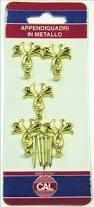 Appendiquadri in metallo Modello fiori 6pz con chiodi