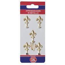 Appendiquadri in metallo Modello Giglio piccolo 6pz con chiodi