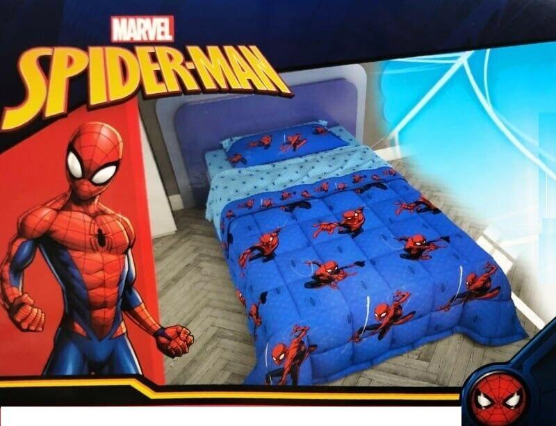 Piumone Spiderman Trapunta invernale per letto singolo morbida soffice una piazza