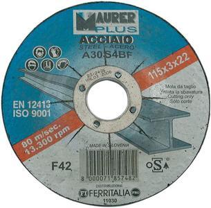 dico per ferro moletta abrasiva Maurer 115x3,23