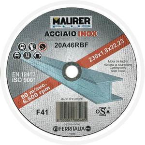 Disco Mola abrasiva per Acciao Inox 115x1x22,23  MAURER PLUS