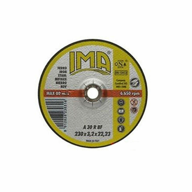 Disco da taglio per ferro Mola  Ima max 80 m/s - 230x3,2x22,23