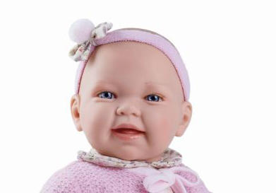 Bambola Nines d'Onil 'Susi Baby' Profumata in Vinile  Seduta Completa di Scatola