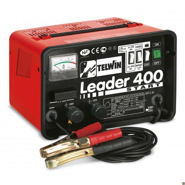 Caricabatterie auto e avviatore Telwin Leader 400 Start - batterie WET/START-STOP 12/24V