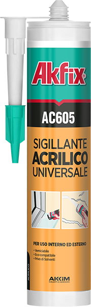Silicone acrilico akfix ml 310 bianco
