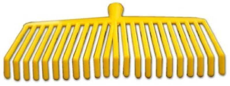 Rastrello scopa in pvc 22 denti per raccolta olive senza manico