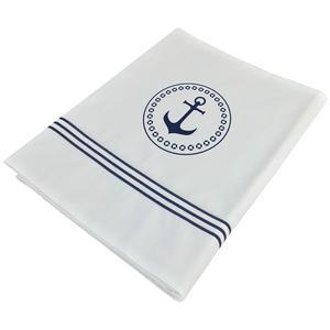 Lenzuolo e Federa Singolo Bianco collezione Santorini di Marine Business