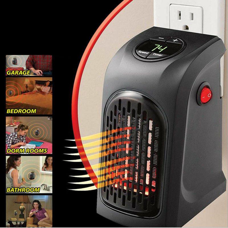 Stufa Elettrica Handy Heater Stufetta In Ceramica Portatile Con Presa A Muro