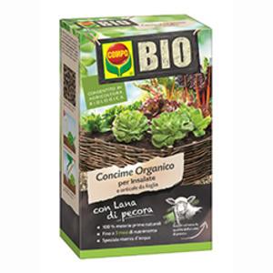 Bio Concime con Lana di Pecora per Insalate e orticole a foglia Compo 750 gr