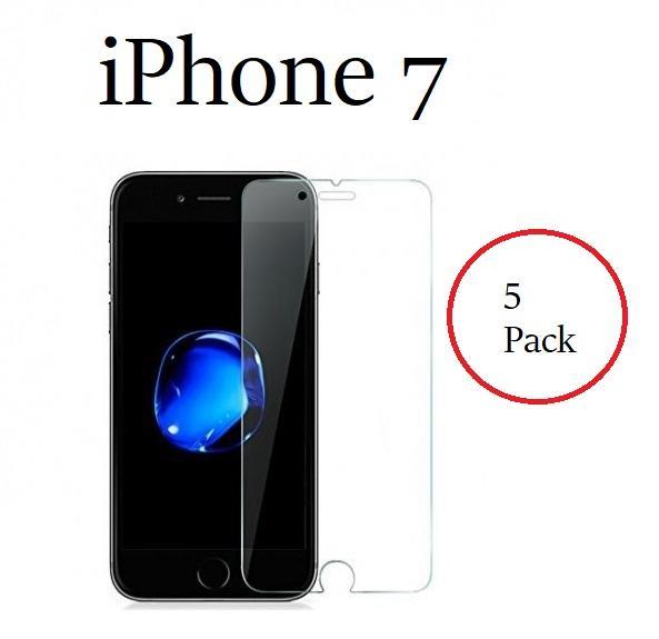5 Pack Pellicola Vetro Temperato per Apple Iphone 7 Protezione Schermo Antigraffio