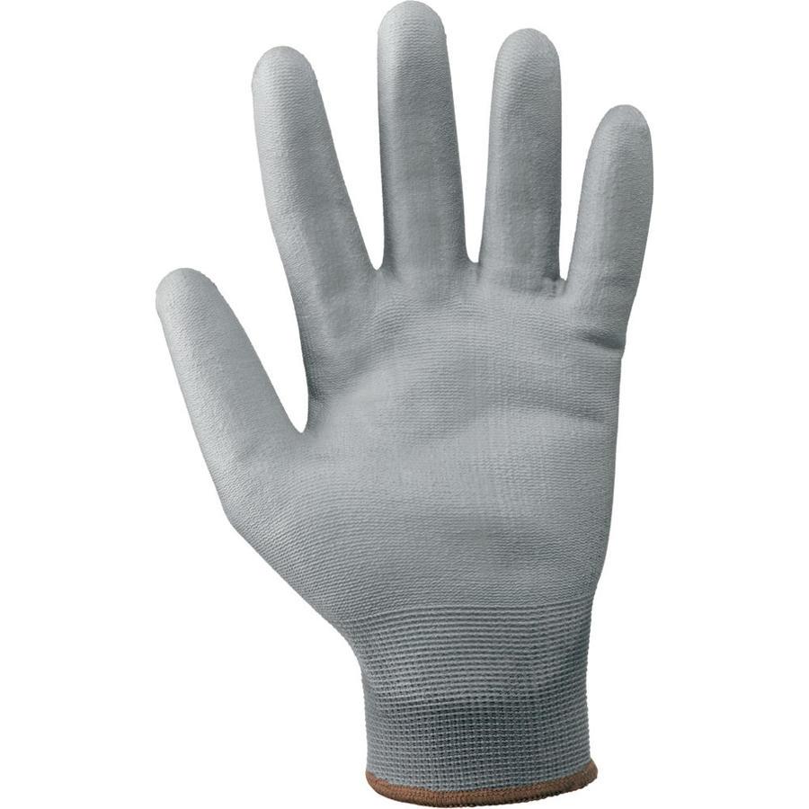 Guanti da lavoro a filo continuo in 100% poliestere / poliuretano col. grigio