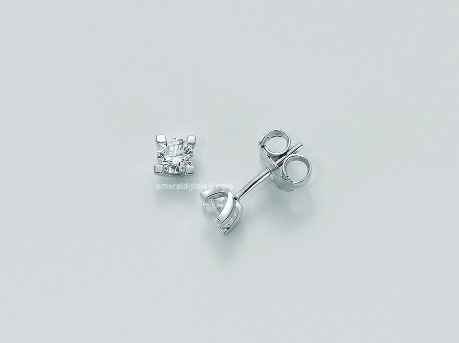 erd5068-014g7 Orecchini Punti Luce con Diamante Miluna -