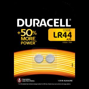 DURACELL LR44 BATTERIA BL2 - CONFEZIONE DA 10, BLISTER DA 2