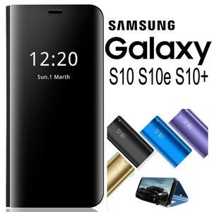 COVER Samsung Galaxy S10 / S10 E / S10 PLUS FLIP CASE MIRROR VARI COLORI