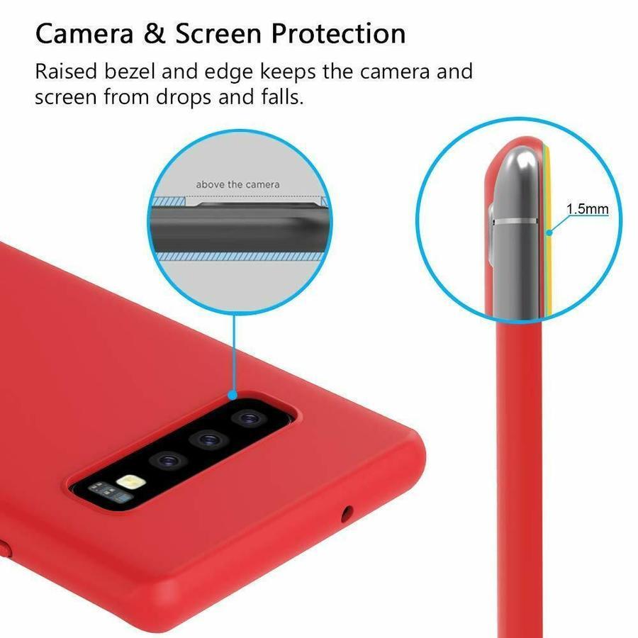 5 Pack Cover Samsung Galaxy S10/ PLUS S10e Silicone Protezione Antigraffi Sicurezza VARI COLORI