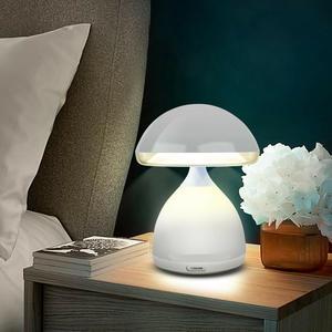 LAMPADA FUNGO LED 7 COLORI RGB LUMINO CROMOTERAPIA TAVOLO COMODINO SENZA FILI