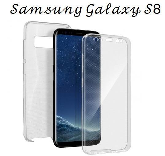 Cover Silicone Fronte-Retro Touch per Samsung Galaxy S8 Ultra Trasparente 100%