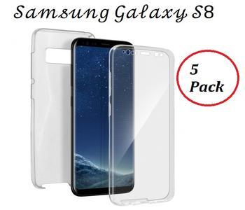 5 Pack Cover Silicone Fronte-Retro Touch per Samsung Galaxy S8 Ultra Trasparente 100%