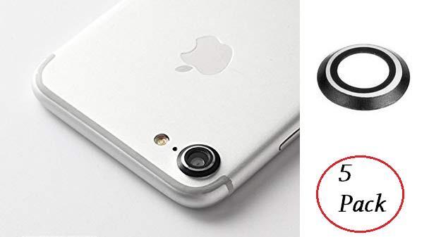 5 PACK Obiettivo fotocamera posteriore per IPHONE 7 protezione anello di protezione