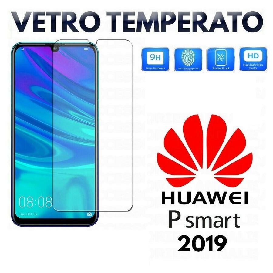 PELLICOLA IN VETRO TEMPERATO per HUAWEI P SMART 2019 Protezione Display