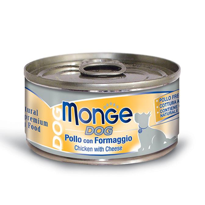 Cane  - Pollo & Formaggio Natural Monge 95 gr