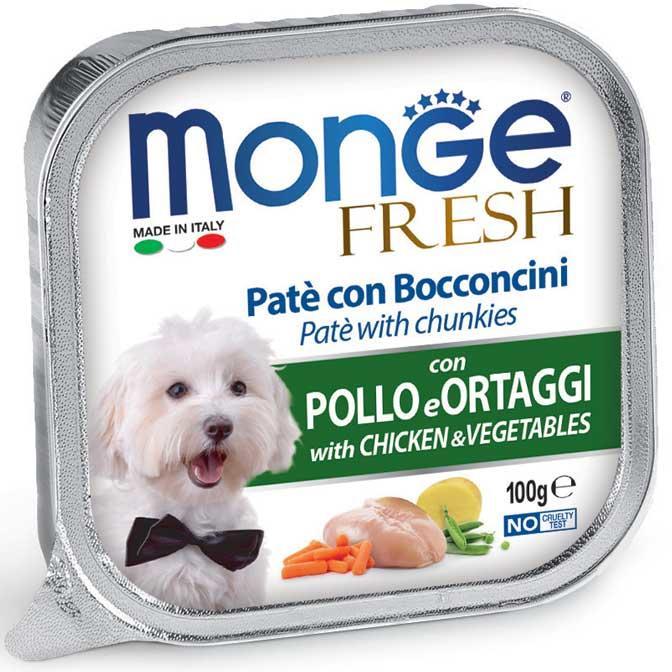 Cane - Pollo & Verdure Fresh Monge 100 gr