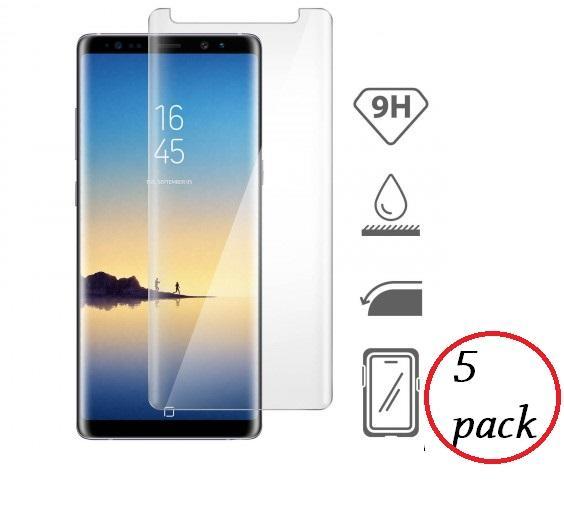 5 PACK Pellicola in vetro temperato Trasparente per Samsung Galaxy Note 8 Protezione schermo