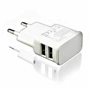 CARICATORE 2 USB ADATTATORE SMARTPHONE SPINA ALIMENTATORE 1A 2A TABLET