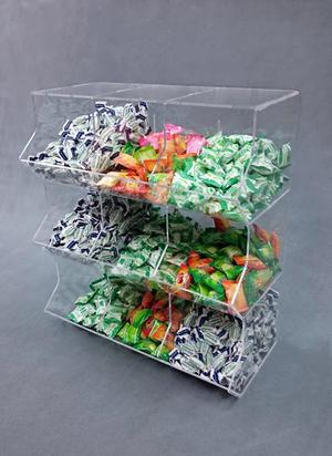 Contenitore porta caramelle sfuse in plexiglass 9 spazi a cubo