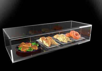 Vetrina in plexiglass porta brioche e alimenti - L 90