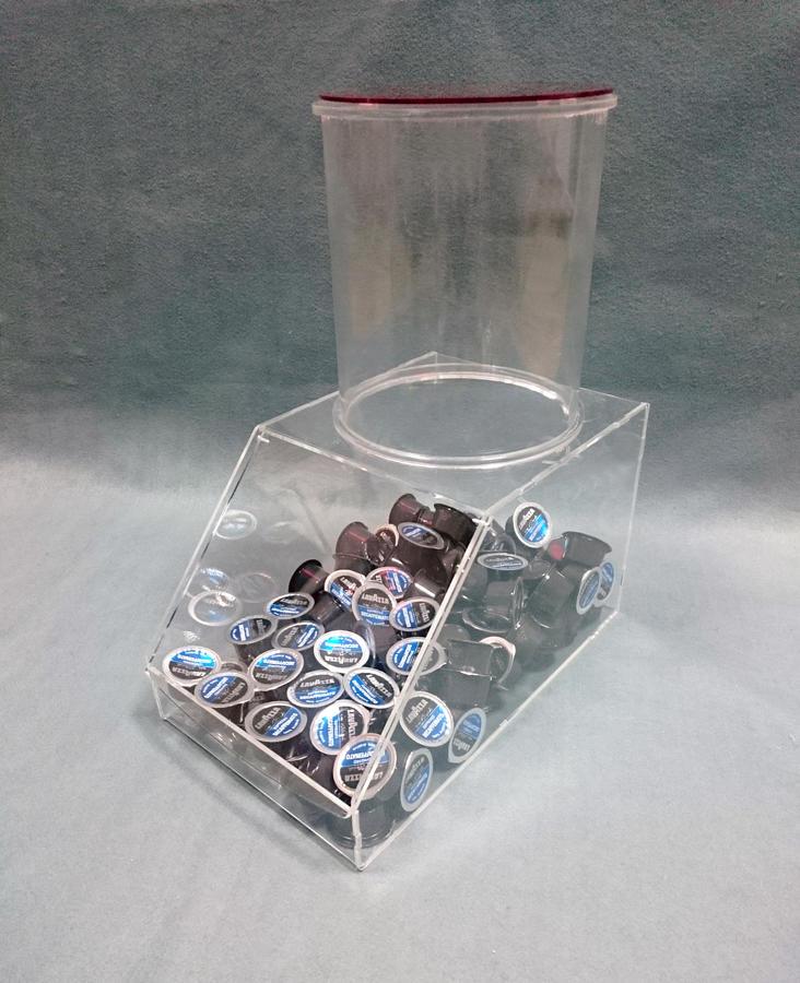 Espositore silos per caramelle, taralli, biscotti, capsule, cialde caffe in plexiglass trasparente