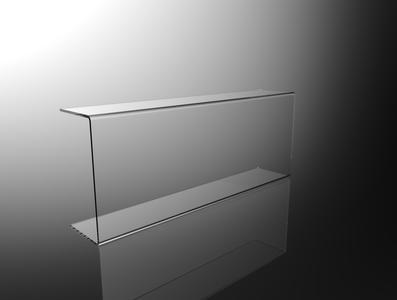 Parafiato parasputi in plexiglass trasparente per alimenti L100cm