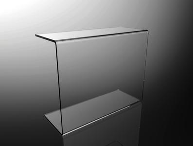 Parafiato parasputi in plexiglass trasparente per alimenti L50cm